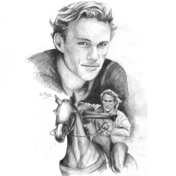 Heath Ledger por Natamur